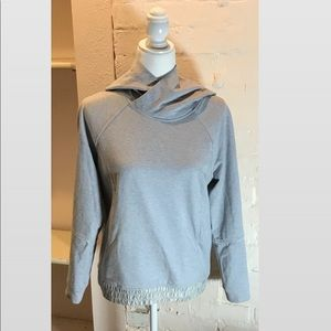lululemon grey cinched waist pullover hoodie